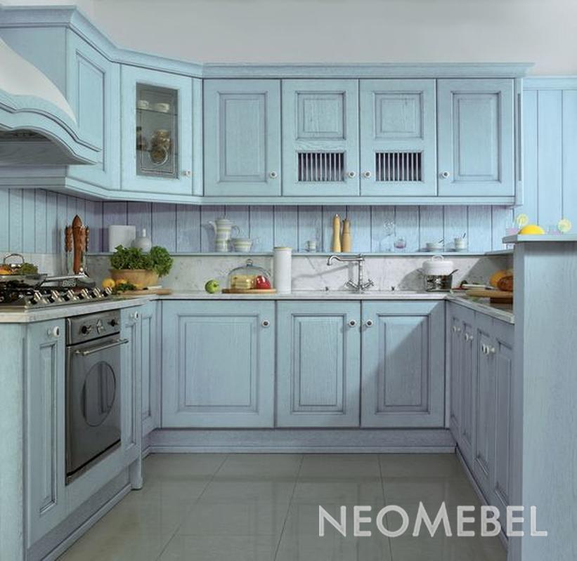 Фото голубой кухни
